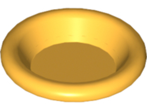 Minifigure, Utensil Dish 3x3 (Bright Light Orange)