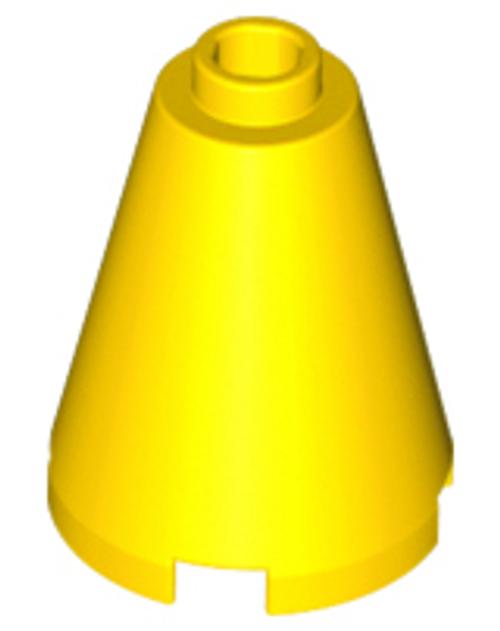 Cone 2x2x2 - Open Stud (Yellow)