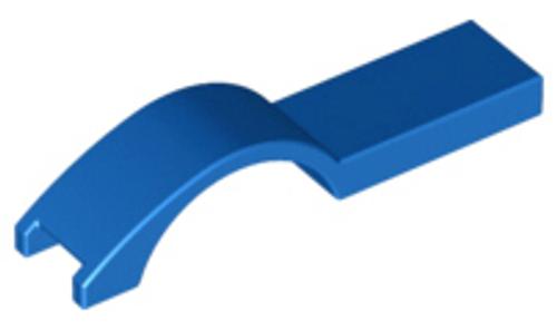 Vehicle, Mudguard 1x4 1/2 (Blue)