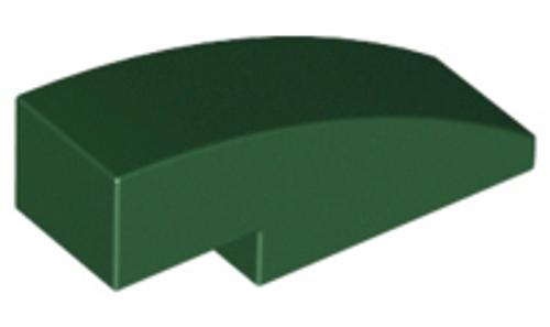 Slope, Curved 3x1 (1x3) No Studs (Dark Green)