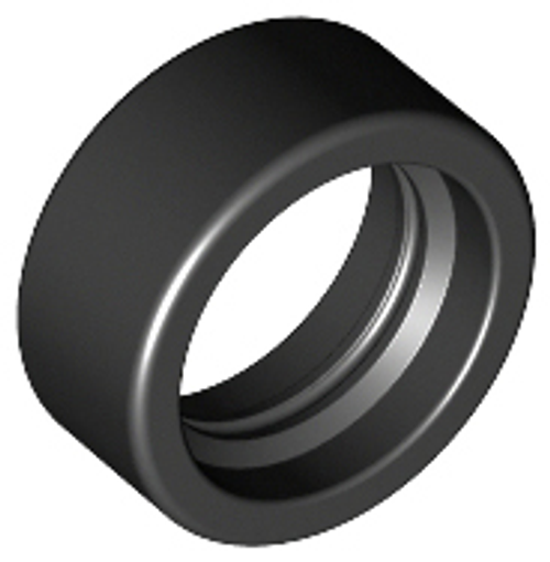 Tyre 14mm D. x 6mm Solid Smooth (Black)