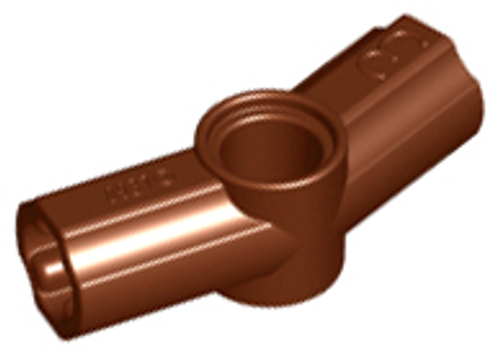 Technic, Axle and Pin Connector Angled #3 - 157.5 degrees (Reddish Brown)