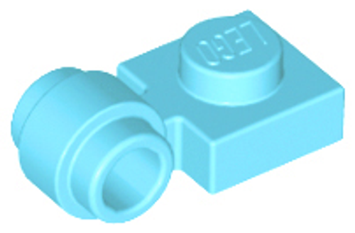 Plate, Modified 1x1 with Clip Light - Thick Ring (Medium Azure)