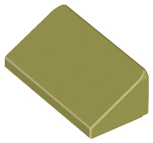 Slope 30 1x2x2/3 (Olive Green)