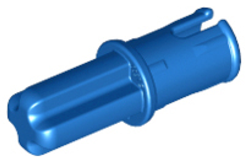Technic, Axle Pin with Friction Ridges Lengthwise (Blue)