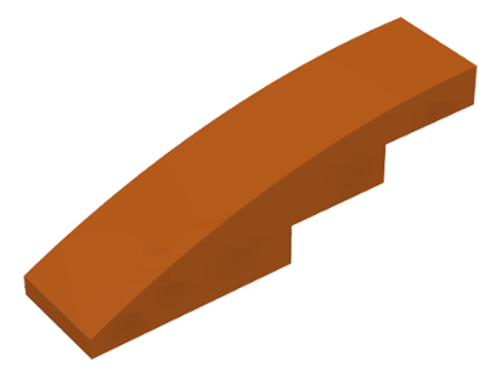 Slope, Curved 4x1 No Studs (Dark Orange)