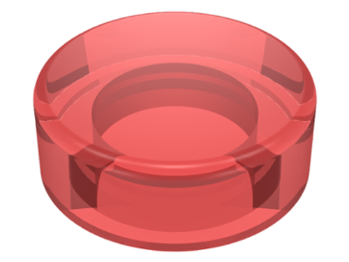 Tile, Round 1x1 (Trans Red)