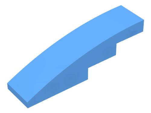 Slope, Curved 4x1 No Studs (Medium Blue)