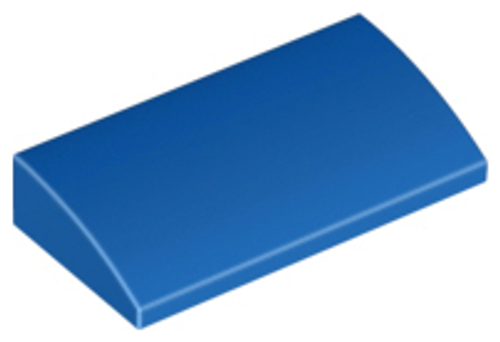 Slope, Curved 2x4 x 2/3 with Bottom Tubes (Blue)