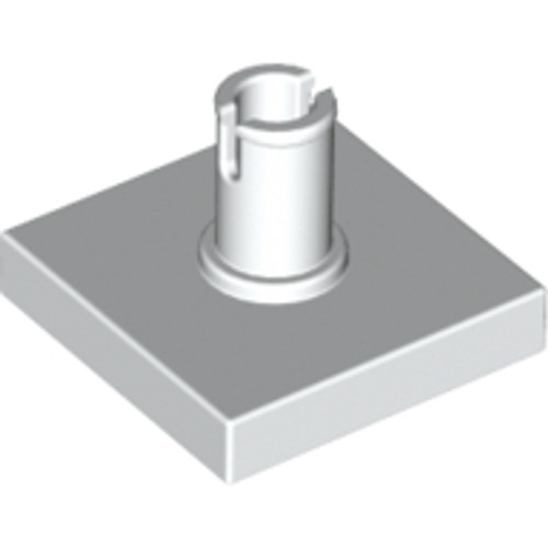 Tile, Modified 2x2 with Pin (White)