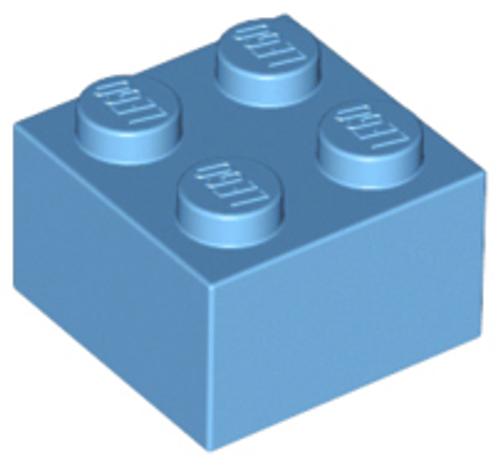 Brick 2x2 (Medium Blue)