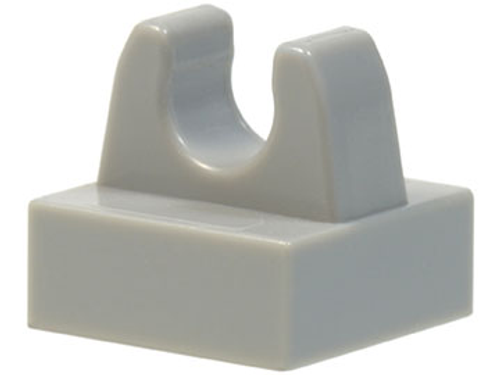 Tile, Modified 1x1 with Clip (Light Bluish Gray)