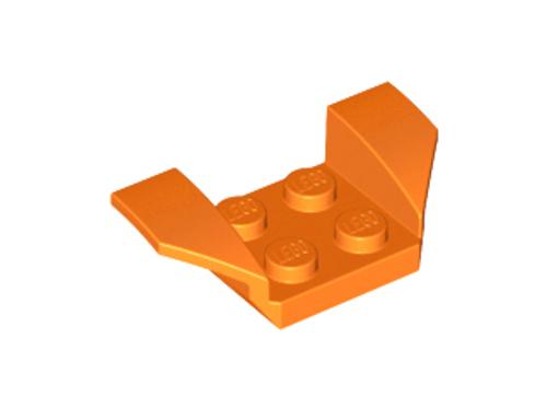 Vehicle, Mudguard 2x4 with Flared Wings (Orange)