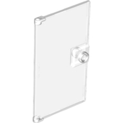 Door 1x4x6 with Stud Handle (Trans Clear)
