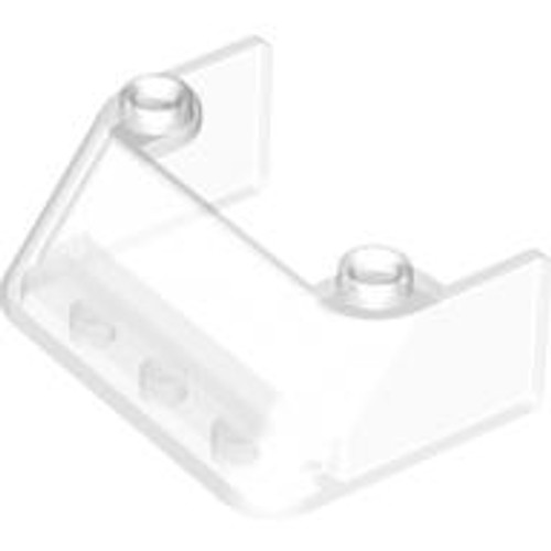 Windscreen 3x4 x1 1/3 with 2 Studs on Top (Trans Clear)