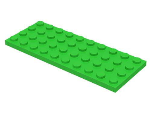Plate 4x10 (Bright Green)