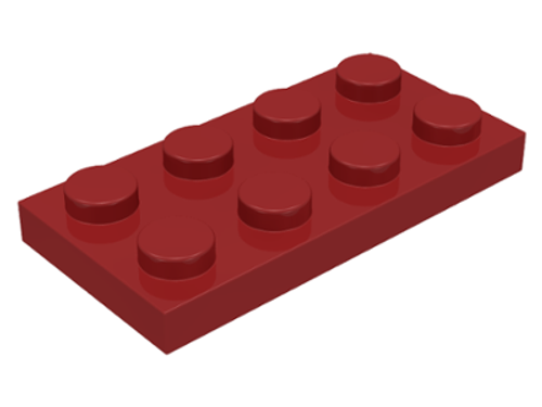 Plate 2x4 (Dark Red)
