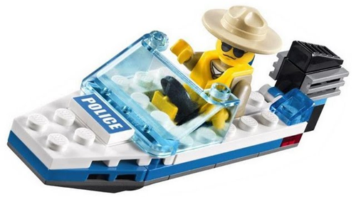 City - Police Boat Polybag (30183)