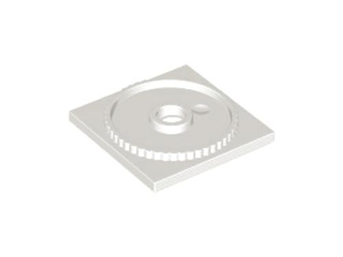 Turntable 4x4 Square Base, Locking (White)