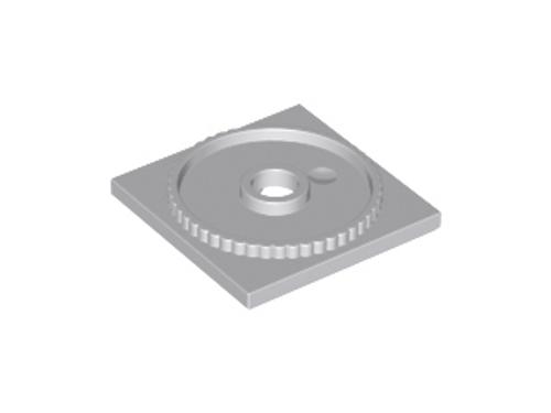 Turntable 4x4 Square Base, Locking (Light Bluish Gray)