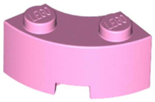 Brick, Round Corner 2x2 Macaroni with  Reinforced Underside (Bright Pink)