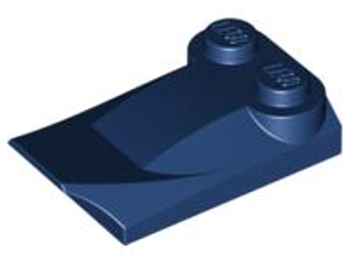 Brick, Modified 2x3 x 2/3 Two Studs, Wing End (Dark Blue)