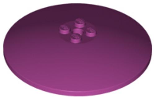 Dish 8x8 Inverted (Radar) - Solid Studs (Magenta)
