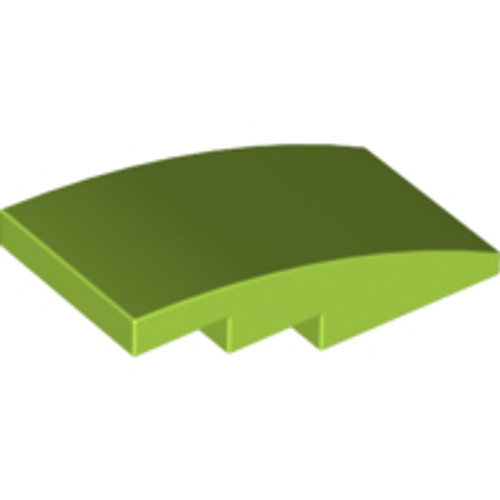 Slope, Curved 4x2 No Studs (Lime)