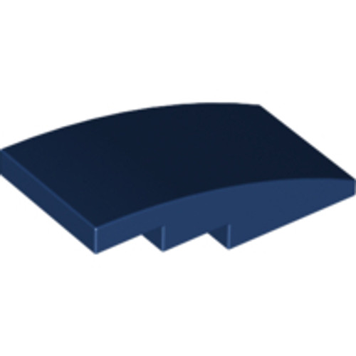 Slope, Curved 4x2 No Studs (Dark Blue)