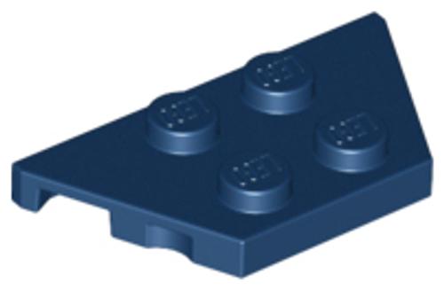 Wedge, Plate 2x4 (Dark Blue)