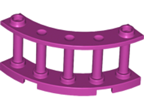 Fence 4x4x2 Quarter Round Spindled with 2 Studs (Magenta)