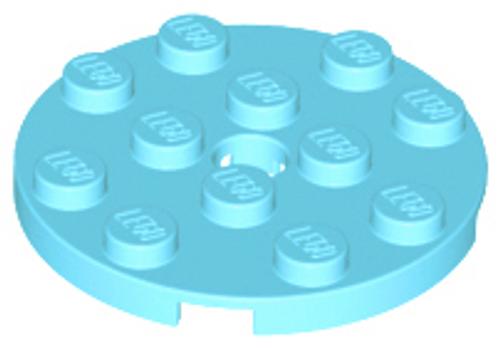 Plate, Round 4x4 with Hole (Medium Azure)