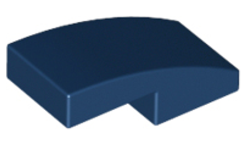 Slope, Curved 2x1 No Studs (Dark Blue)
