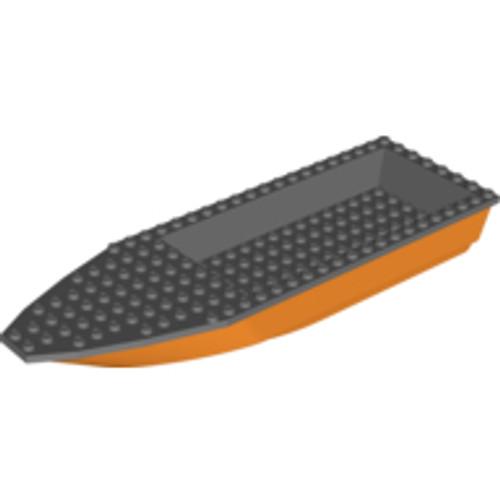 Boat Hull Unitary 28x8 Base & Top (Orange)