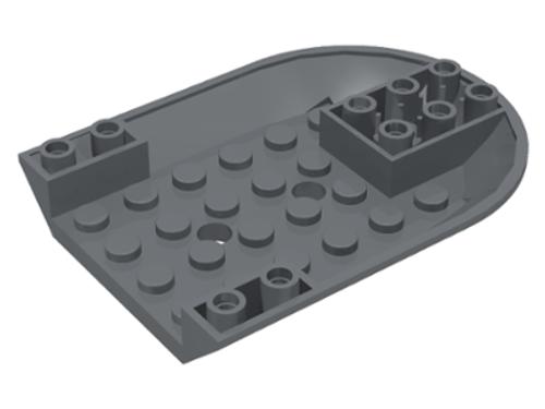 Aircraft Fuselage Curved Forward 6x8 Bottom (Dark Bluish Gray)