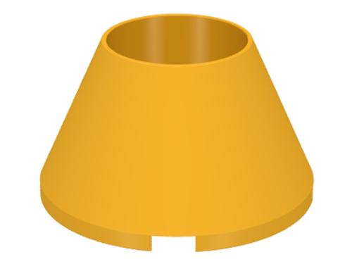 Cone 4x4x2 Hollow No Studs (Bright Light Orange)