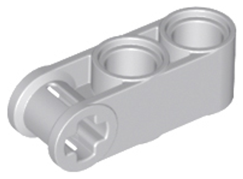 Technic, Axle and Pin Connector Perpendicular 3L with 2 Pin Holes (Light Bluish Gray)
