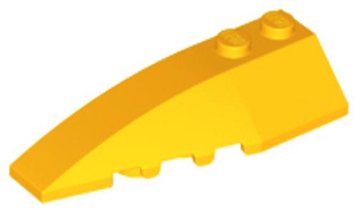 Wedge Brick 6x2 Left (Bright Light Orange)