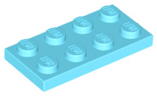 Plate 2x4 (Medium Azure)