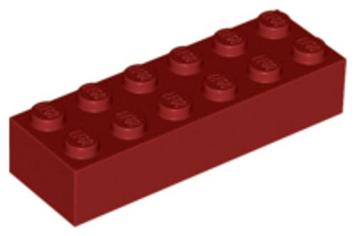 Brick 2x6 (Dark Red)