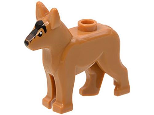 Dog, Alsatian/German Shepherd with Black Eyes (Medium Nougat)