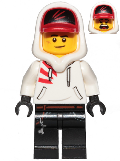 Jack Davids - White Hoodie with Cap and Hood (hs009)