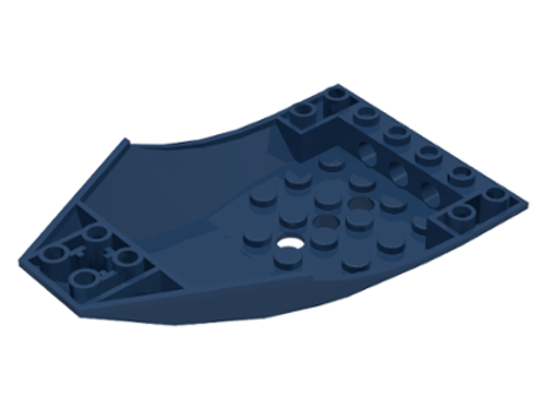 Airplane / Train Cockpit 10x6x2 Curved (Dark Blue)