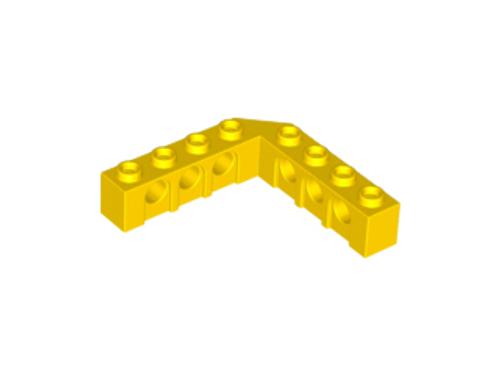 Technic, Brick 5x5 Right Angle (4x1 - 1x4) (Yellow)