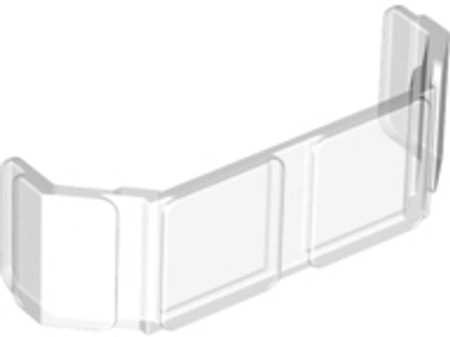 Glass for Train Front 2x6x2 (Trans Clear)