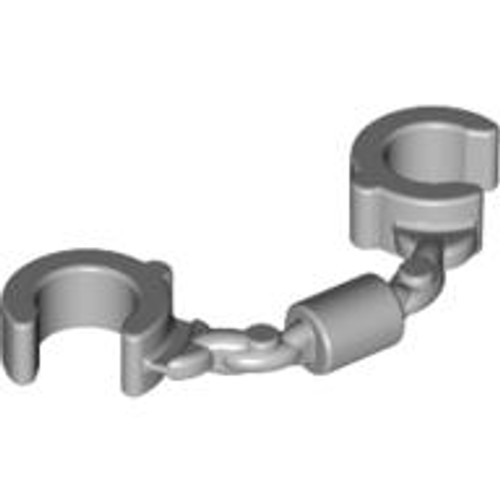 Minifigure, Utensil Handcuffs (Light Bluish Gray)