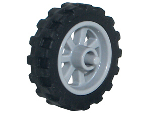 Wheel 15mm D. x 6mm City Motorcycle with Black Tyre 21mm D. x 6mm City Motorcycle (50862 / 50861) (50859b)