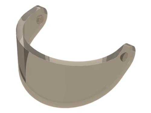 Minifigure, Visor Standard (Trans-Black)