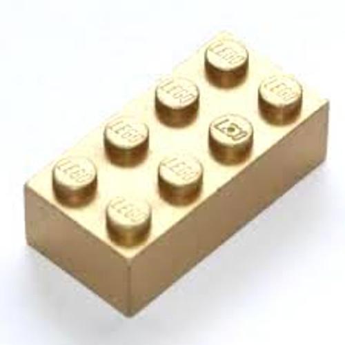 Brick 2x4 (Metallic Gold)