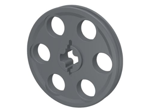 Technic Wedge Belt Wheel (Pulley) (Dark Bluish Gray)